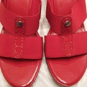 Easy Spirit Red Sandals